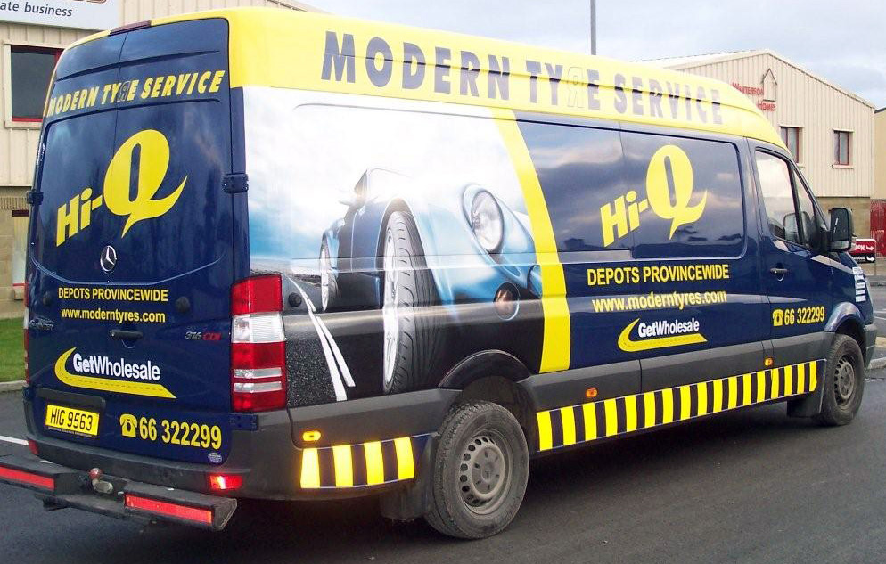Vehicle Graphics Livery Ernco Group - Modern business vehicle decals